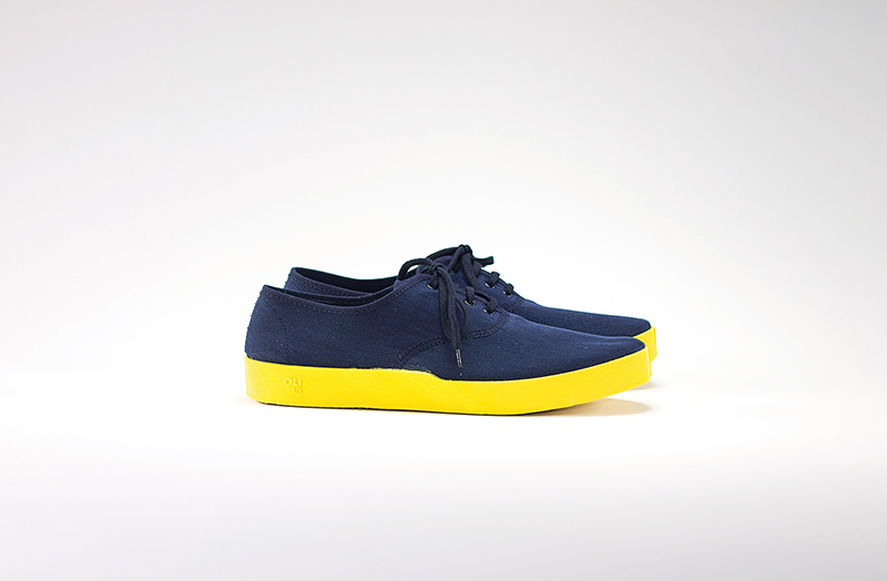OLI13 OXFORD BLUE-YELLOW CANVAS