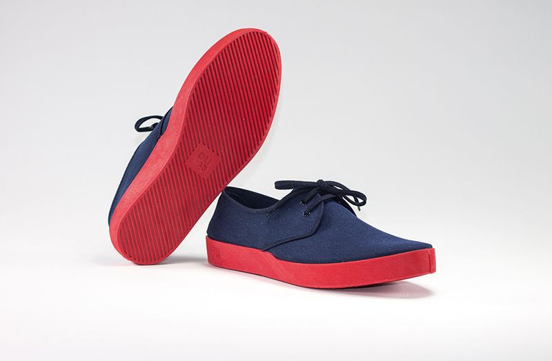 OLI13 DERBY BLUE-RED CANVAS