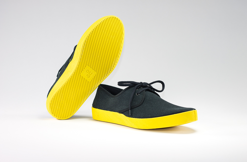 OLI13 DERBY BLACK-YELLOW CANVAS