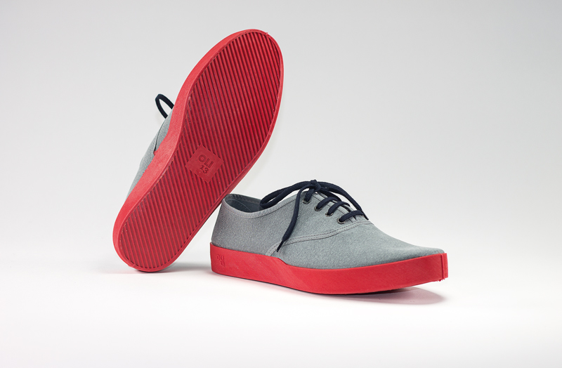 OLI13 OXFORD GREY-RED CANVAS