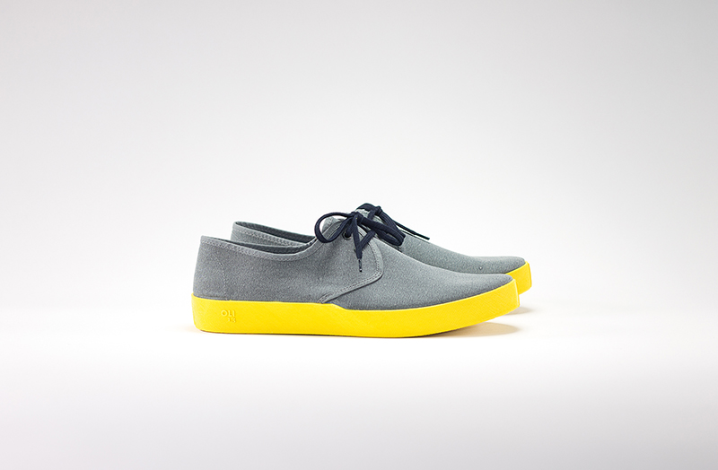 OLI13 DERBY GREY-YELLOW CANVAS