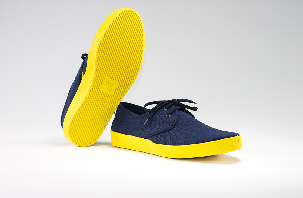 OLI13 DERBY BLUE YELLOW CANVAS