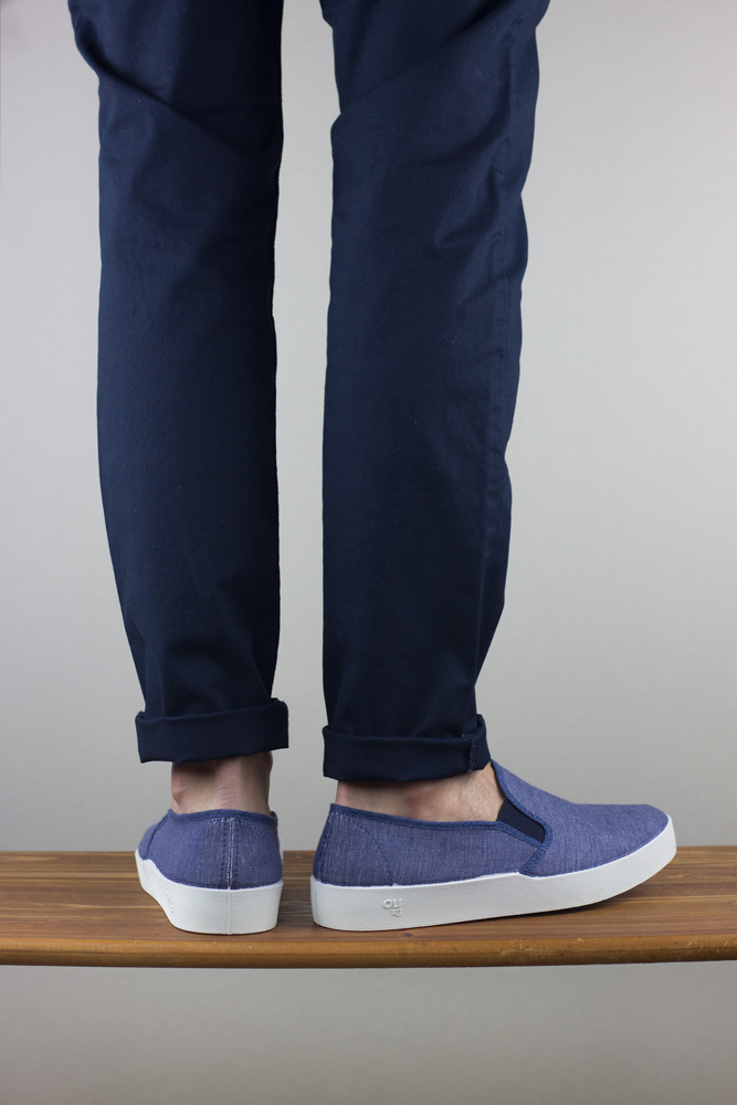 Oli13 Slipon bluejeans white