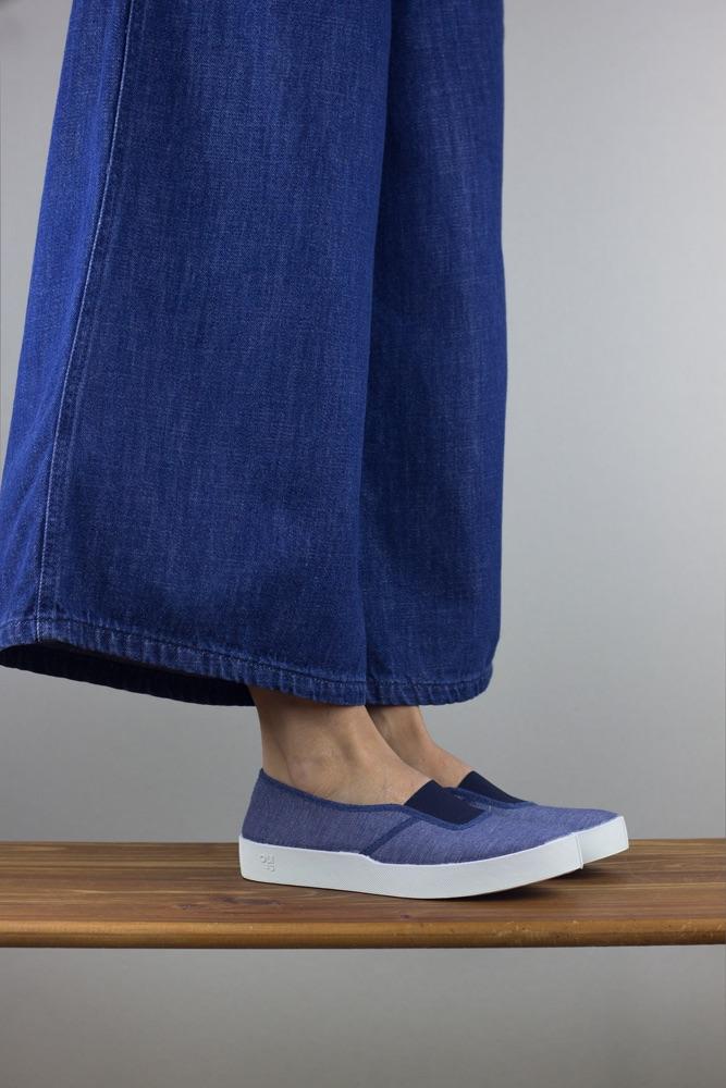 Oli13 elastic blue jean white